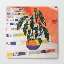 Dotted begonia #illustration Art Print Metal Print
