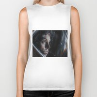 ripley Biker Tanks featuring Ripley from Aliens by Ashley Anderson