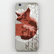 Foxes Have Dens iPhone & iPod Skin