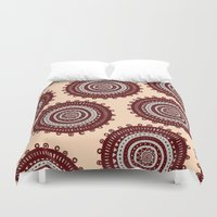 ethnic Duvet Covers featuring Ethnic by Iris López