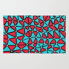 African Triangles Red and Blue Rug