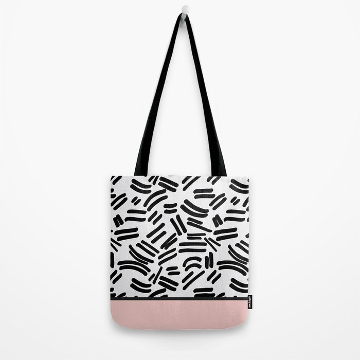 Patterned & Pink Tote Bag
