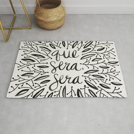 Whatever Will Be, Will Be – Black Ink Rug