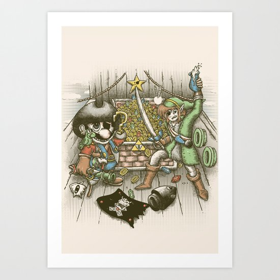 8-Bit Pirates Art Print
