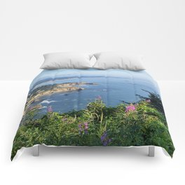 Otter Rock, Oregon from Cape Foulweather Vantage Point Comforters