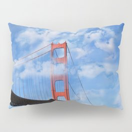 California Republic Bear in the Clouds of the Golden Gate Bridge Pillow Sham