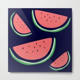 Bright Watermelon Print Metal Print