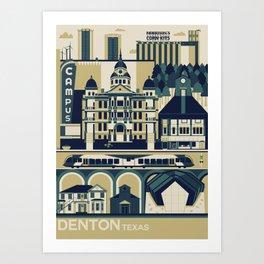 Denton, Texas Art Print