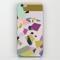 crystals iPhone & iPod Skins featuring Crystals by Leandro Pita