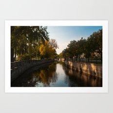 Lachine Canal Reflections Art Print