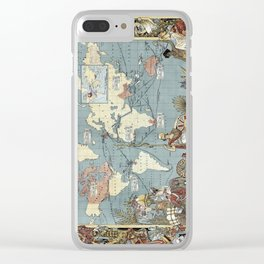 World map - British Empire - 1886 Clear iPhone Case