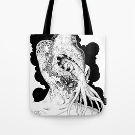 Minion of Cthulhu in Ceremonial Mask Tote Bag