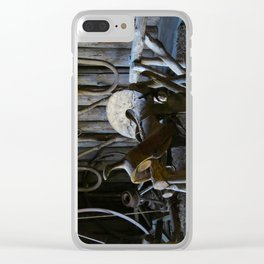 Rustic Saddle Clear iPhone Case