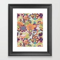 Birds in the fall Framed Art Print