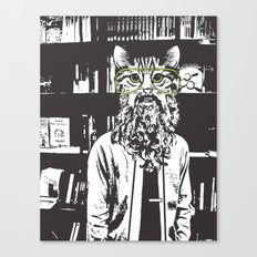 Cool Cat Librarian Canvas Print