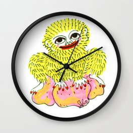 Golden Ape Man Wall Clock