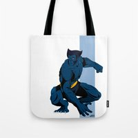 beast Tote Bags featuring Beast by Andrew Formosa