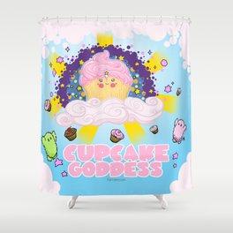 Cupcake Goddess Shower Curtain