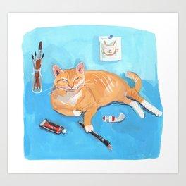 Creative Cat Art Print
