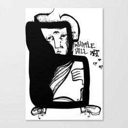 whipple hill art logo black and white drawing illustration third eye figure Canvas Print