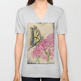 Collette's butterfly Unisex V-Neck