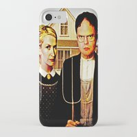 american iPhone & iPod Cases featuring Dwight Schrute & Angela Martin (The Office: American Gothic) by Silvio Ledbetter