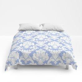 wedgewood blue damask Comforters
