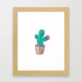 Little Cactus Framed Art Print