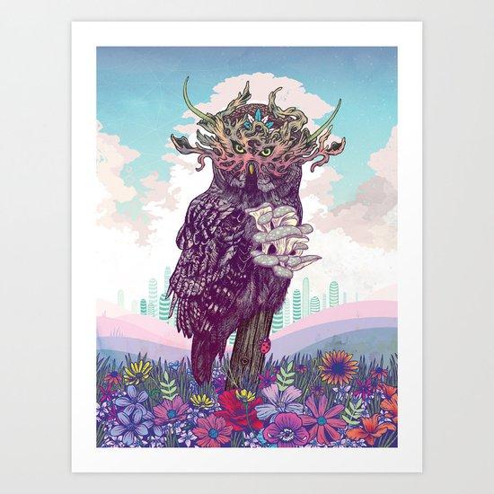 Journeying Spirit (Owl) Art Print