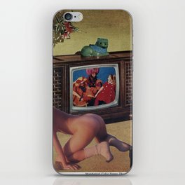 A Television In Every Home - Vintage Collage iPhone Skin