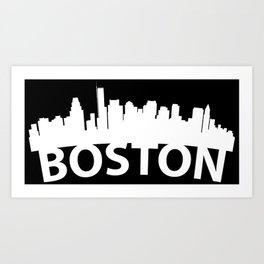 Curved Skyline Of Boston MA Art Print
