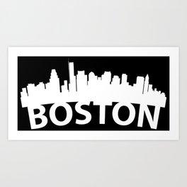 Curved Skyline Of Boston MA Art Print