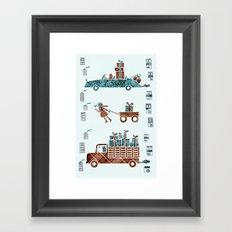 Present Transportation Framed Art Print