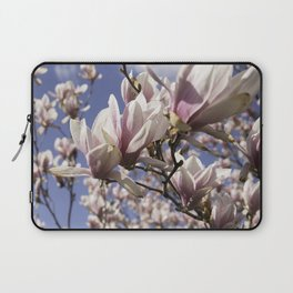 Magnolia Blossoms Shiver Against A Chill Wind Laptop Sleeve
