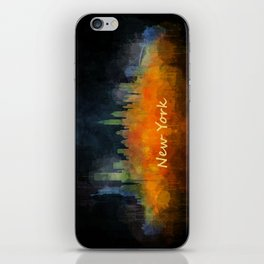 New York City Skyline Hq V04 iPhone Skin