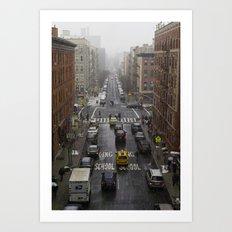 East Harlem NYC Snowy Saturday Art Print