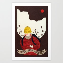Super duper mountain Art Print