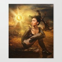 scorpio Canvas Prints featuring Scorpio by EnchantedWhispers