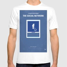 No779 My The Social Network minimal movie poster MEDIUM White Mens Fitted Tee