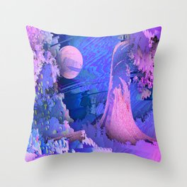 Data_Jungle Throw Pillow