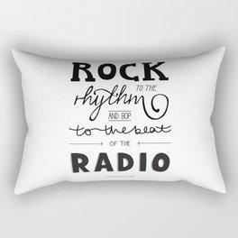 Kings of Leon hand-lettered print Rectangular Pillow