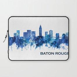Baton Rouge Louisiana Skyline Blue Laptop Sleeve
