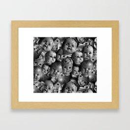 Creepy baby Framed Art Print