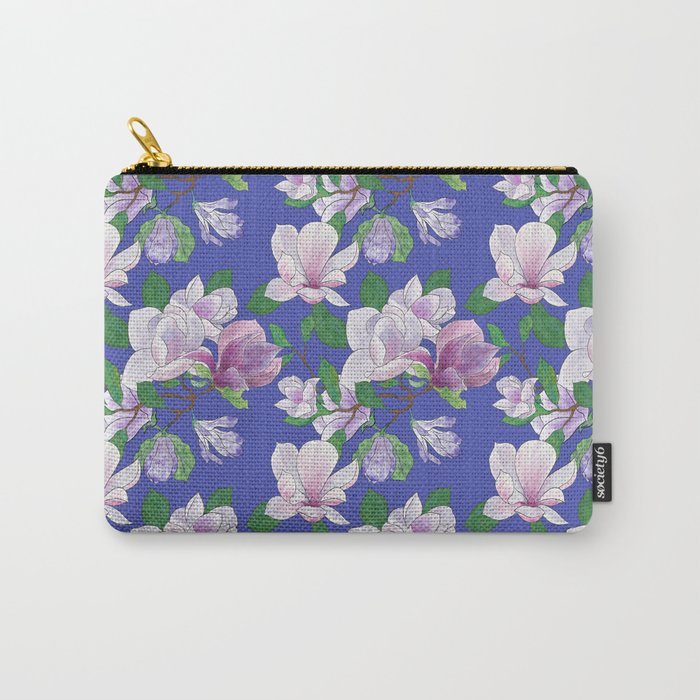 Magnolia Floral Print Carry-All Pouch