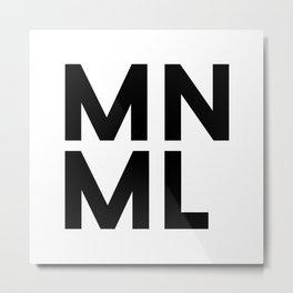MNML Metal Print