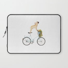 French Bulldog on Bicycle Laptop Sleeve
