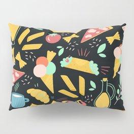 Italian food - Black chalkboard  Pillow Sham