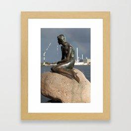 the little mermaid copenhagen 3 Framed Art Print