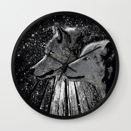WOLF ENCOUNTER Wall Clock