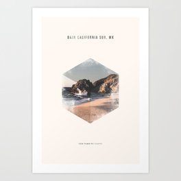 Minimalist Travel Poster - Baja California Sur, MX Art Print